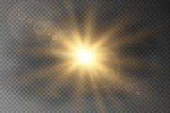 Explosión de la estrella con las chispas stock de ilustración