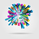 Explosión de la estrella del vector Foto de archivo libre de regalías