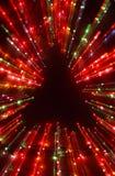 Explosión de la luz del árbol de navidad fotografía de archivo libre de regalías