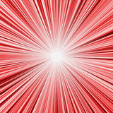Explosión de la luz roja ilustración del vector