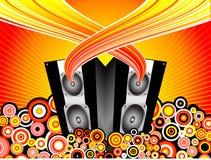 Explosión de la música Foto de archivo libre de regalías