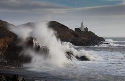 Explosión de la onda de Frank de la tormenta Fotos de archivo libres de regalías