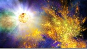 Explosión de la supernova Imagen de archivo