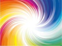 Explosión de las luces del rayo del arco iris Fotografía de archivo libre de regalías