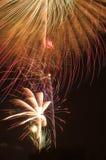 Explosión de los fuegos artificiales Fotografía de archivo libre de regalías