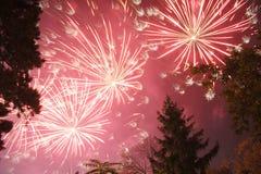 Explosión de los fuegos artificiales fotos de archivo libres de regalías