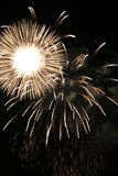 Explosión de los fuegos artificiales del SOL foto de archivo libre de regalías