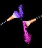 Explosión del aislante del polvo del maquillaje Imágenes de archivo libres de regalías