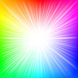 Explosión del arco iris stock de ilustración