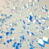 Explosión del bloque Imágenes de archivo libres de regalías