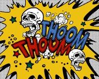 Explosión del cómic Foto de archivo libre de regalías