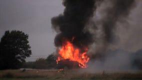 Explosión del coche almacen de video