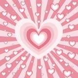 Explosión del corazón Imagen de archivo libre de regalías