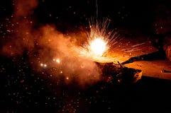 Explosión del fuego artificial Imagenes de archivo