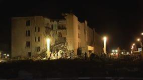 Explosión del gas de la noche metrajes