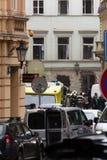 Explosión del gas de Praga en el 29 de abril de 2013 fotos de archivo libres de regalías