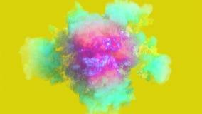 Explosión del humo coloreado en 4K metrajes