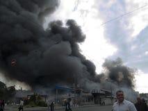 Explosión del mercado de Slavyansky en Dnipropetrovsk Fotos de archivo libres de regalías