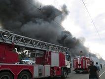 Explosión del mercado de Slavyansky en Dnipropetrovsk Imagen de archivo libre de regalías