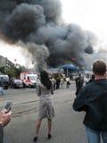 Explosión del mercado de Slavyansky en Dnipropetrovsk Fotografía de archivo libre de regalías