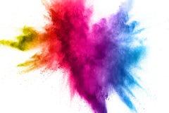 explosión del polvo del multicolor en el fondo blanco fotos de archivo libres de regalías