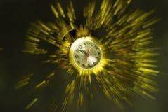 Explosión del reloj del Año Nuevo Imágenes de archivo libres de regalías