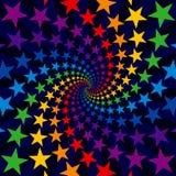 Explosión del remolino de la estrella Fotos de archivo libres de regalías