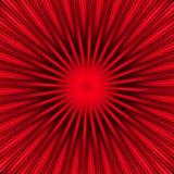 Explosión del rojo Foto de archivo libre de regalías