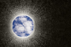 Explosión del túnel Imagenes de archivo