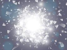 Explosión del vector Fondo abstracto del vector Imágenes de archivo libres de regalías