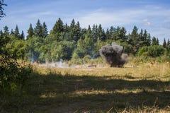 Explosión en bosque Imagen de archivo libre de regalías