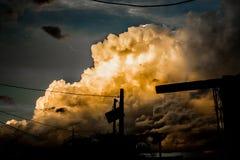 Explosión en cielo Imagenes de archivo