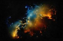 Explosión en espacio profundo Fotografía de archivo