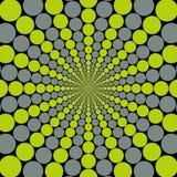 Explosión gris/del verde de la circular Foto de archivo libre de regalías