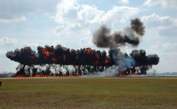 Explosión industrial grande Fotos de archivo libres de regalías