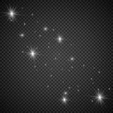 Explosión ligera blanca de la explosión que brilla intensamente con transparente El ejemplo del vector para la decoración fresca  Foto de archivo libre de regalías