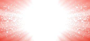Explosión mágica de la estrella de la Navidad Foto de archivo libre de regalías