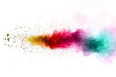 Explosión multicolora del polvo Fotos de archivo