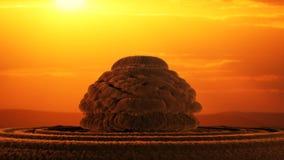 Explosión nuclear generada por ordenador Imagen de archivo libre de regalías