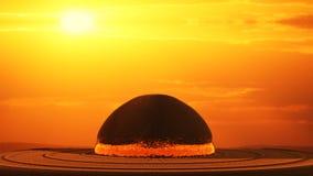 Explosión nuclear generada por ordenador Imágenes de archivo libres de regalías
