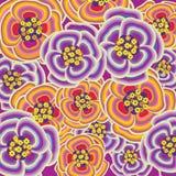 Explosión púrpura y anaranjada de la flor Imagenes de archivo