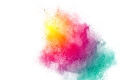 Explosión pintada del polvo Fotografía de archivo