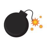 Explosión plana de la bomba del icono Foto de archivo