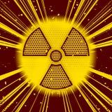 Explosión radiactiva stock de ilustración