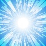 Explosión Ray Light Stripe del azul Foto de archivo
