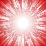 Explosión Ray Light Stripe del rojo Imágenes de archivo libres de regalías