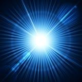 Explosión realista de la estrella con la llamarada. Imagenes de archivo