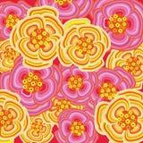 Explosión rosada de la flor del resorte stock de ilustración