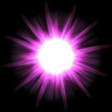 Explosión solar de la estrella stock de ilustración