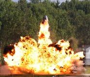 Explosión una llama Imagenes de archivo
